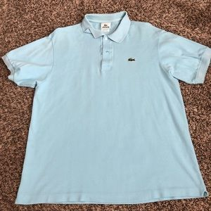Other - Men's size 6 Lacoste short sleeve polo baby blue